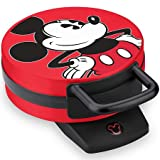 DISNEY MICKEY MOUSE NON STICK ELECTRIC WAFFLE MAKER RED AND BLACK