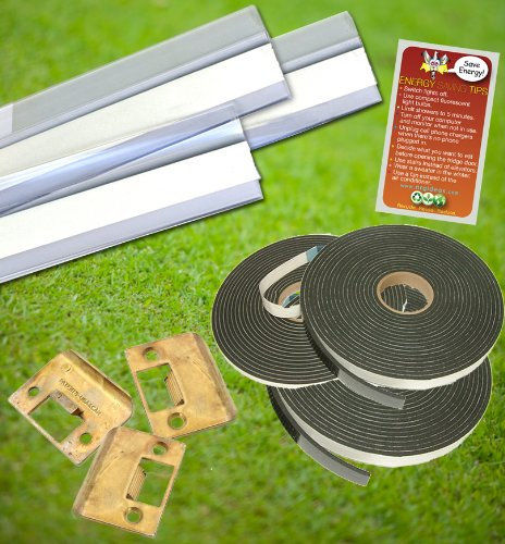 Images for Door Draft Stopper Kit | Door Sweeps, Foam Tape & Door Strike Plate | Home Energy Door Draft Kit