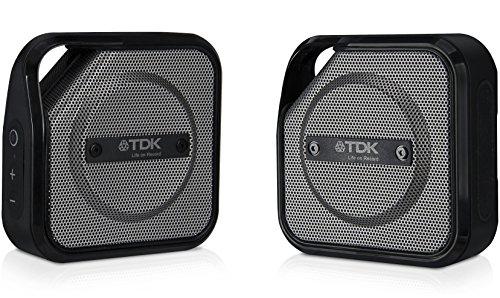 TDK Life on Record Bluetoothワイヤレスポータブルスピーカー アウトドアに強い防塵・防滴(IP64相当) TWS対応 TREK TWIN A20シリーズ ブラック A20BK