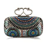 APTRO Women's Colorful Sequins Sweetheart Rings Evening Handbags