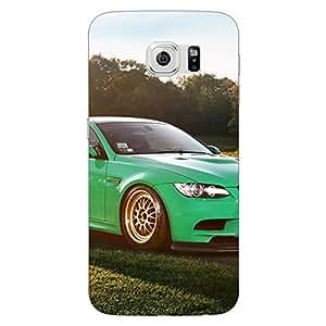 Jugaaduu Super Car BMW Back Cover Case For Samsung S6