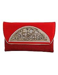 Craftstages Ethnic Designer Jute Sling Bag For Women (Material: Jute, Colour: Red) - B00VREYQ44