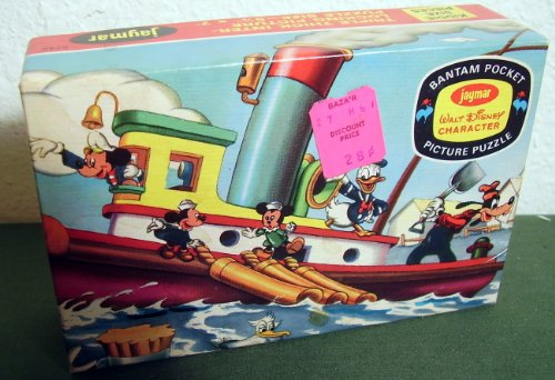 Mickey's Tugboat Disney Bantam Pocket Picture Puzzle - 1