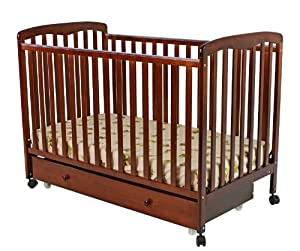 Dream On Me Brianna Convertible Crib with Roll Away Trundle Drawer, Espresso