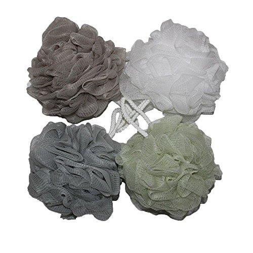 bath-shower-sponge-pouf-loofahs-mesh-brush-shower-ball-mesh-bath-and-shower-sponge-pack-of-4-60g-pcs