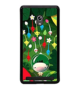 Vizagbeats cartoon flowers Back Case Cover for ASUS ZENFONE 5