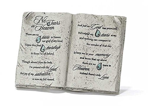 Book Tabletop Plaque - No Tears in Heaven