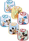 Baby Essentials Baby-Boys Newborn 6 Pack Mickey Mouse and Friends Bibs