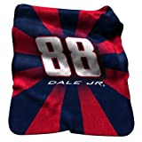 Dale Earnhardt Jr. 88 Throw Raschel Sunburst Blanket by Logo Chairs