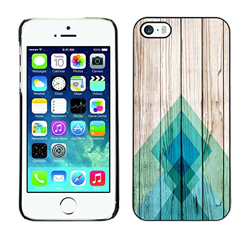 For Apple iPhone 5 / iPhone 5S Case , Lines Wood Texture Docks Pier Surf - Colorful Pattern Hard Back Snap-On Cover Case Skin Mobile Phone Shell Bumper