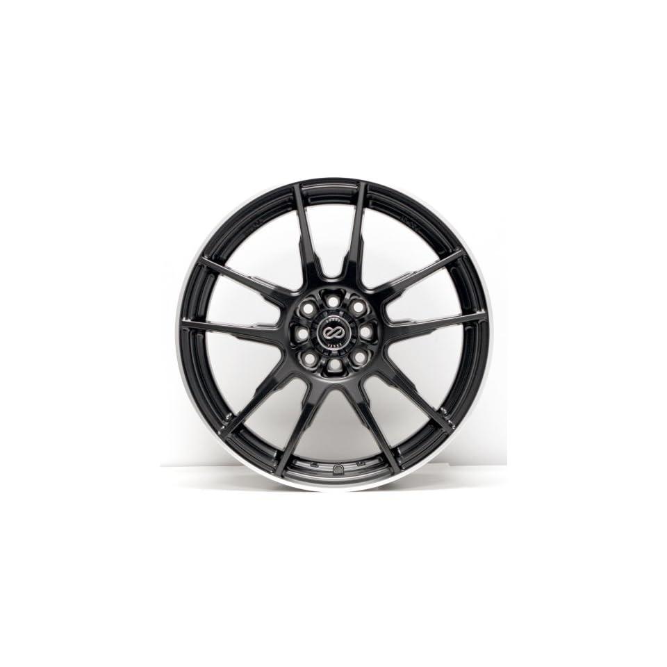 17x7 Enkei FLC 01 (Black) Wheels/Rims 5x100/114.3 (440 770 0240BK)