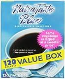 Natra Taste Blue Sweetener, 120-Count Packets (Pack of 12)