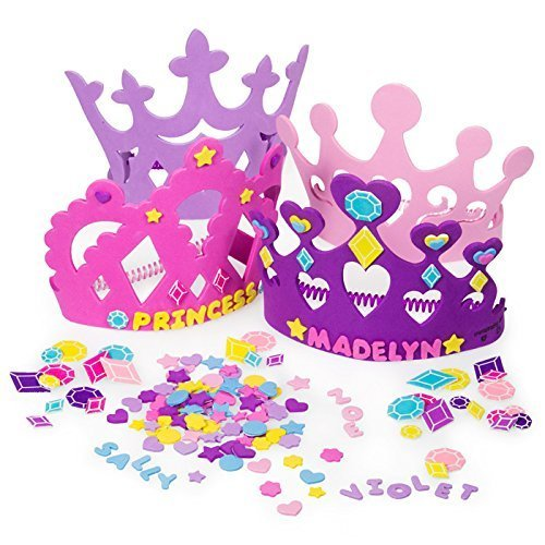 Cheap 2 Set of Princess Tiara Crown Craft Kits (Includes 24 Foam Tiaras + 800 Pc Princess Craft Shap...