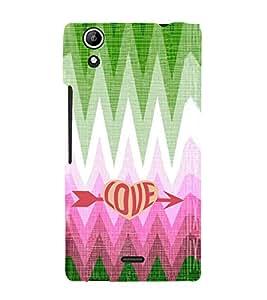 EPICCASE love arrow Mobile Back Case Cover For Micromax Selfie 2 Q340 (Designer Case)