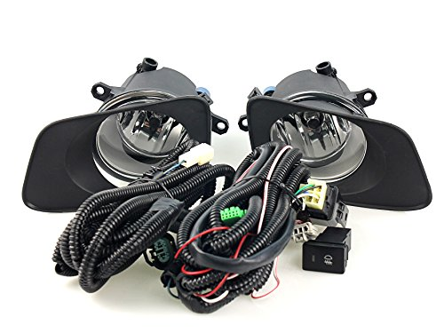 HUAHEE Front Car Fog Lamp / Lights for Toyota Corolla Axio / Fielder 2007 on Wiring Kit Included (Toyota Fielder compare prices)