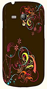 Great multicolor printed protective REBEL mobile back cover for S3 Mini / Samsung I8190 Galaxy S III mini D.No.N-T-2819-S3M
