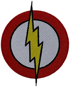 "FLASH, Flash Logo, Officially Licensed Original DC Comic Hero Artwork 3.25"" x 3.5"" - Iron-On / Sew-On PATCH"
