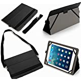 Universal 10.1 Inch Tablet Case Cover (10bl) Pu Leather Folio Style Fits Akaso Kingpad (Black)