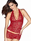 Frederick's of Hollywood Brazilian Lace Cami & Boy Short Set Womens thumbnail