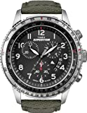 Timex T49823GP Expedition Military Chronograph Rugged Cordura Strap (Black)