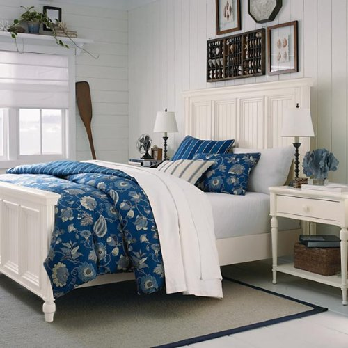 Southport panel bedroom set white by bassett for Bedroom furniture amazon