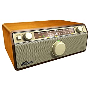 Sangean America Inc. WR-12 AM/FM Analog Wooden Cabinet Receiver (Walnut)