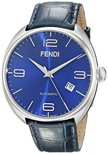 Fendi Fendimatic F200013031 42mm Automatic Stainless Steel Case Blue Leather Synthetic Sapphire Men's Watch