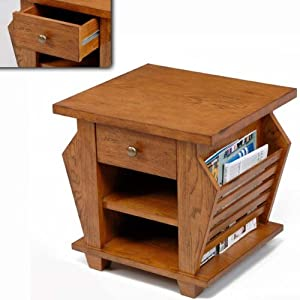Cheap  wich Medium Oak Bedside Magazine/Lamp Table or TV Stand