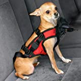 Snoozer Pet Safety Harness with Adapter Combination, Small, Red and Black