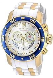 Invicta 20293 Men's Pro Diver Blue Bezel Steel & Polyurethane Strap Chrono Watch