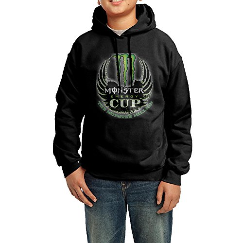 Daboru Monster Energy Logo Boys And Girls Hooded Sweatshirt Black (Monster Energy Apparel Kids compare prices)