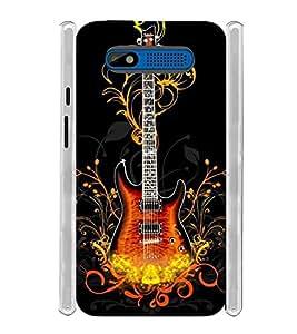 Electric Guitar Soft Silicon Rubberized Back Case Cover for Intex Aqua R4