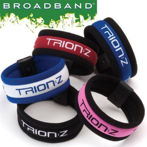 Trion:Z Broadband Bracelets - Blue/White - Medium (7.1