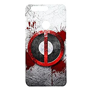 Fancy Interio Designer Printed Hard Back Case Cover For Huawei Honor 8 - The Deadpool Logo.