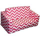 Newco Kids Chevron Flip Sofa, Candy Pink