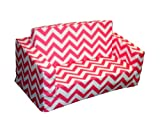 Newco Kids Chevron Flip Sofa, Candy Pink