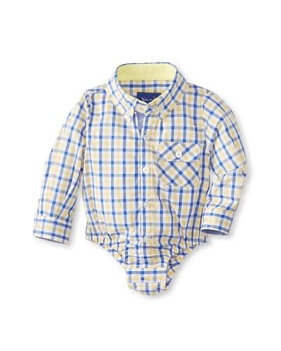 Beetle & Thread Kid's Gingham Shirtzie  [Yellow]