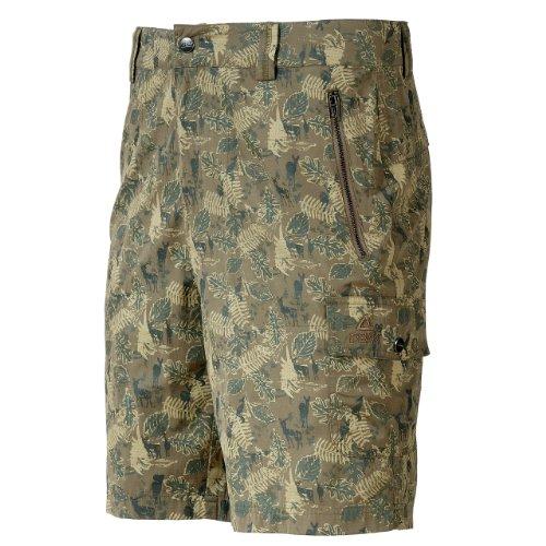 Peak Sport Europe, Pantaloni corti Uomo Camouflage, Marrone (braun), XL