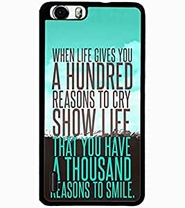 ColourCraft Quote Design Back Case Cover for HUAWEI HONOR 6 PLUS