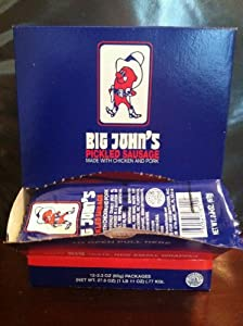 Big John's Pickled Sausage Single Serve Natural 12 Pack (2.3oz/ea)