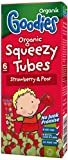 Organix Organic Goodies Strawberry and Pear Squeezy Tubes 30 g (Pack of 5)