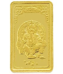 TBZ-The Original 15 gm, 24k(999) Yellow Gold Ganesh Precious Coin