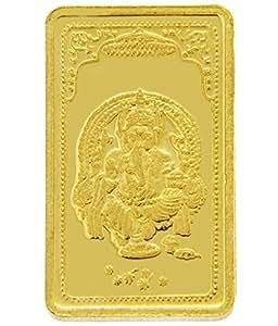 TBZ - The Original 15 gm, 24k(999) Yellow Gold Ganesh Precious Coin