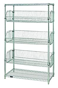 quantum storage systems 1836bc6c 5 tier stationary wire. Black Bedroom Furniture Sets. Home Design Ideas
