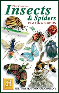 Insect and Spider Standard Poker Playing Card Deck featuring all of your favorite creepy crawlies