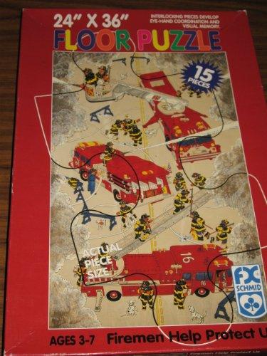 Cheap F.X. Schmid Firemen Help Protect Us Floor Puzzle (B003JJP0GS)