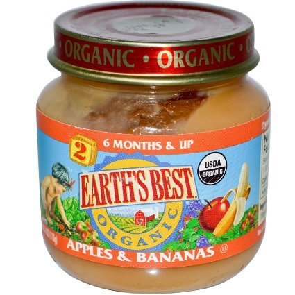 Earth's Best Organic Stage 2 Apples & Bananas