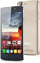 """Cubot X12 - Smartphone libre (pantalla 5"""", Cámara 8 Mp, Android 5.1, 64bit, Quad-Core, 8GB ROM, 4G LTE), Dorado"""