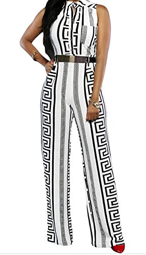 YFFaye White Print Gold Belted Jumpsuit S (Stag Arms Model 3 compare prices)
