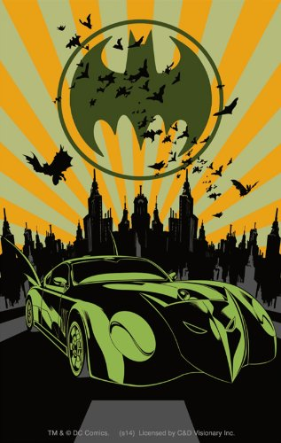 Licenses Products DC Comics Batman Bat Mobile Sticker